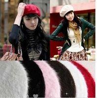 Wholesale 20pcs New hot sale Korean fashion berets hat rabbit hair cap Christmas gifts multicolor beanies caps