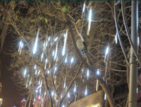 Wholesale white EU style CM LED Meteor lamp christmas light Shower Rain Tube Lights Outdoor Tree