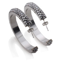 Wholesale 316L Stainless Steel Hoop Earring Good CZ Crystal
