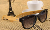 Wholesale Wood Sunglasses Designer Bamboo Sunglass Eyewear Glasses UV400 Free Shipment