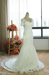 Wholesale sweetheart ncekline with traps beads and applique skirt lace wedding dresses W295