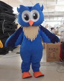100% real photos Adult size blue Owl mascot costume Custom Team Mascots Sports Mascot Costume Desuisement Mascotte Character Design Company