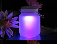 Wholesale Christmas Gift colorful Sun Jar LED Night Light Solar Powered Lamp