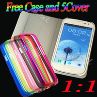 Wholesale MTK6575 Android I9300 S3 GB Single sim card ROM GB MB MP camera Free case cover