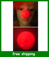 Wholesale Popular Men LED Clown red nose Babh Halloween luminous Kids Toys Christmas Gifts