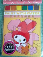 Wholesale 6 color environmental protection watercolor painting this baby learn to paint children receive paper