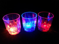 Wholesale LED cup flashing shot glasses flashing cup led shot cup flash small cup f