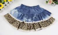 Wholesale baby girl clothes children spring autumn winter dress short dress cowboy dress leopard dress