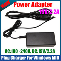 Wholesale 19V A Power Adapter home Plug Charger USA EU UK AU standard For Windows Tablet PC WinPAD