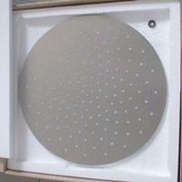 """Exposed Contemporary brushed Wholesale 16"""" stainless steel head shower round overhead shower"""