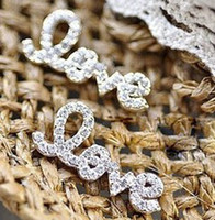 Wholesale Gold amp Silver Plated Nobel Rhinestone Covered Letter Love Ear Stud women s jewelry