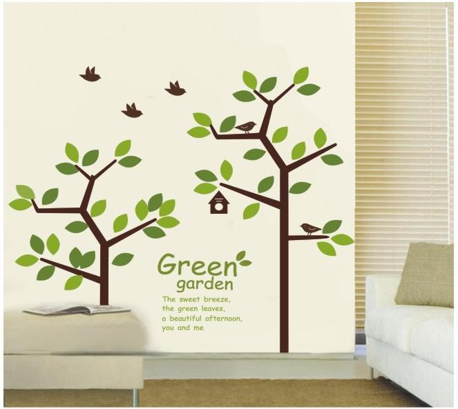 How to make a tree wall sticker d wall decal for Diy tree mural nursery