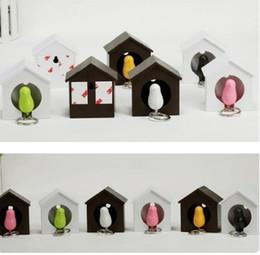 Bird Nest Sparrow Key Ring Whistle Key Rings Keyholder Anti-lost Key Seat Bird House Key pendant
