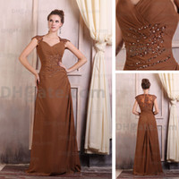 Wholesale Chiffon Mother of Bridal Dresses Applique Ruched A Line Sweetheart Neck Floor Length Mother Dresses