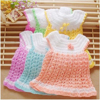 Wholesale Colorful Knitted Vest - baby girl's knit vest Jacket autumn fashion coats girl's coat Colorful 3pcs lot B2-219