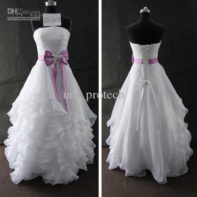 Purple and white lace wedding dresses for Purple and grey wedding dresses