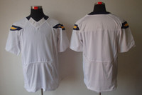 Wholesale 2012 Elite jerseys San Diego blank white American Football jerseys Size