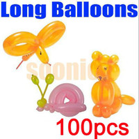 Wholesale Long Balloons DIY Animal Tying Making Mixed Colors Latex Twist Assorted Party