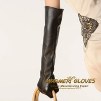 Wholesale ladies long leather gloves opera gloves long gloves