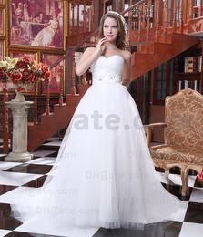 Wholesale 2012 New Vintage Ball Gown Wedding Dresses Sweetheart Taffeta Ruffles White Bridal Gown LZ10021