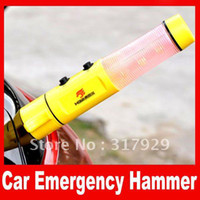 Wholesale 20pcs Multifunction Seat Safety AUTO Emergency Life Saving Hammer Belt Cutter LED Warning