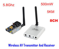 Wholesale 5 G Video AV Audio Video wireless Transmitter Receiver Sender FPV Km Long Range