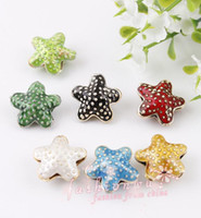 Wholesale MIC Colorful Cloisonne Beautiful Starfish beads MM