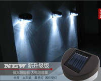 Wholesale Waterproof Solar Powered LED Wall Lamp Outdoor Landscape Lawn Lamp LEDs Fence Light Lamp Garden Yard light Solar Lights