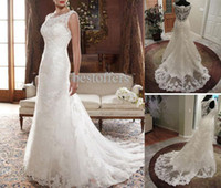 Wholesale 2011 Sexy Sweetheart Lace Wedding Dresses Trumpet Short Sleeves Bridal Gown