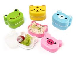 Wholesale Kids Eat Storage Bow Set Zoo Nesting Box Eating Divided Dish Tray Plate Bowl Animal heat Food Box