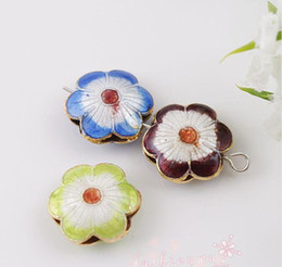 Wholesale MIC Mixed Enamel Cloisonne Flower oblate beads MM1