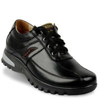 Wholesale XD0096 height taller shoes with hidden insole inserts cow leather Rubber outsole CM tall
