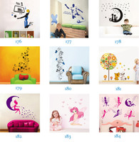 Removable PVC Animal Mix Order Removable Wall Stickers Decals Kids Room Wall Stickers Nursery Wall Decor 50x70cm Wall Art