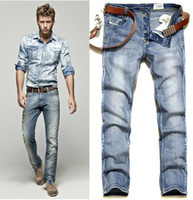 Wholesale 2013 Brand New Classic Design fashion bleaching Light color washing Silm fashion Men s Jeans J1022