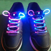 Wholesale Flashing shoe laces Fiber Optic Shoelace Luminous Shoe Laces Light Up Shoes lace pairs