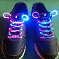 Wholesale lLED Light Up Shoes Shoelaces Luminous Shoestring Flash Strap Stick Disco Shoelace shoe lace pair