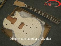 custom shop Guitar Body Flame Maple Top Unfinished Electric Guitar Body only Guitar body