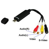 Wholesale Easy CAP USB TV DVD VHS Video Audio AV Capture DC60