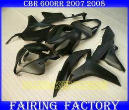 Injection all matte black ABS fairings for HONDA 2007 2008 CBR600RR 07 08 CBR 600RR F5 body kits