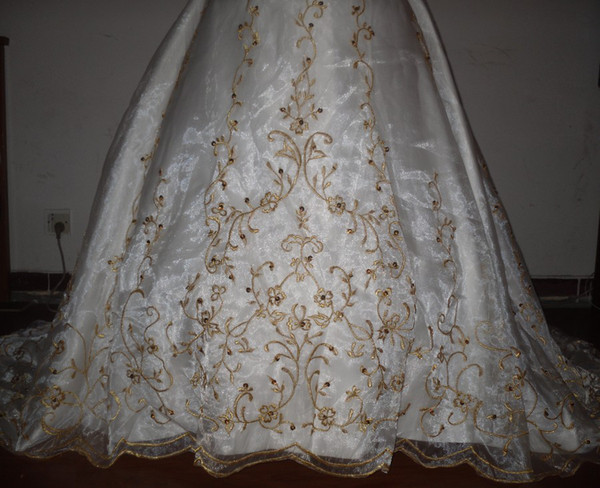 Gold Embroidery Wedding Dress Dress Gold Embroidery