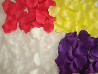 Wholesale 1000 High Density Silk Rose Petals Flowers Confetti Wedding Table Decoration