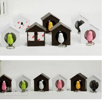 Wholesale HOT Bird Nest Sparrow Key Ring Whistle Key Rings Keyholder Anti lost Key Seat Bird House Key pendant