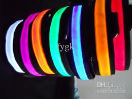 Wholesale 5pcs Pet Supplies Pet collars Nylon Ribbon Flashing Light Safety LED Dog Pet Collar