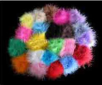 feather marabou puffs - 2012 The new Girl Boutique Hair Bow Marabou Puff have clamp Christmas