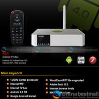 Cheap A5A Android 4.0 OS 1080P Full HD Media Player Smart TV Box WIFI Flash 4GB 1GB DDR3 Cortex A8 1.2GHz