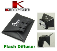 Wholesale 10 Universal Portable Flash Light Diffuser SoftBox For Speedlite Canon Nikon Sony