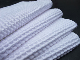 Wholesale 10 quot Microfiber Deep Waffle Weave Facial Cloth Absorbent Dishcloths MicroDermabrasion Cloth