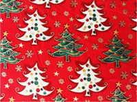 cotton fabric cloth - beautiful cotton thick Christmas material cloth fabric with quot Christmas tree quot x1 yards