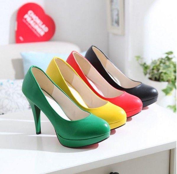 Yellow Women's Patent Peep Toe Shoes - Dress Stiletto Pump H