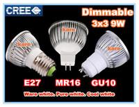 9W 24v e27 led - X50pcs Retail High power CREE led bulb W x3W Dimmable GU10 MR16 E27 B22 E14 GU5 Led Light Lamp Spotlight lighting